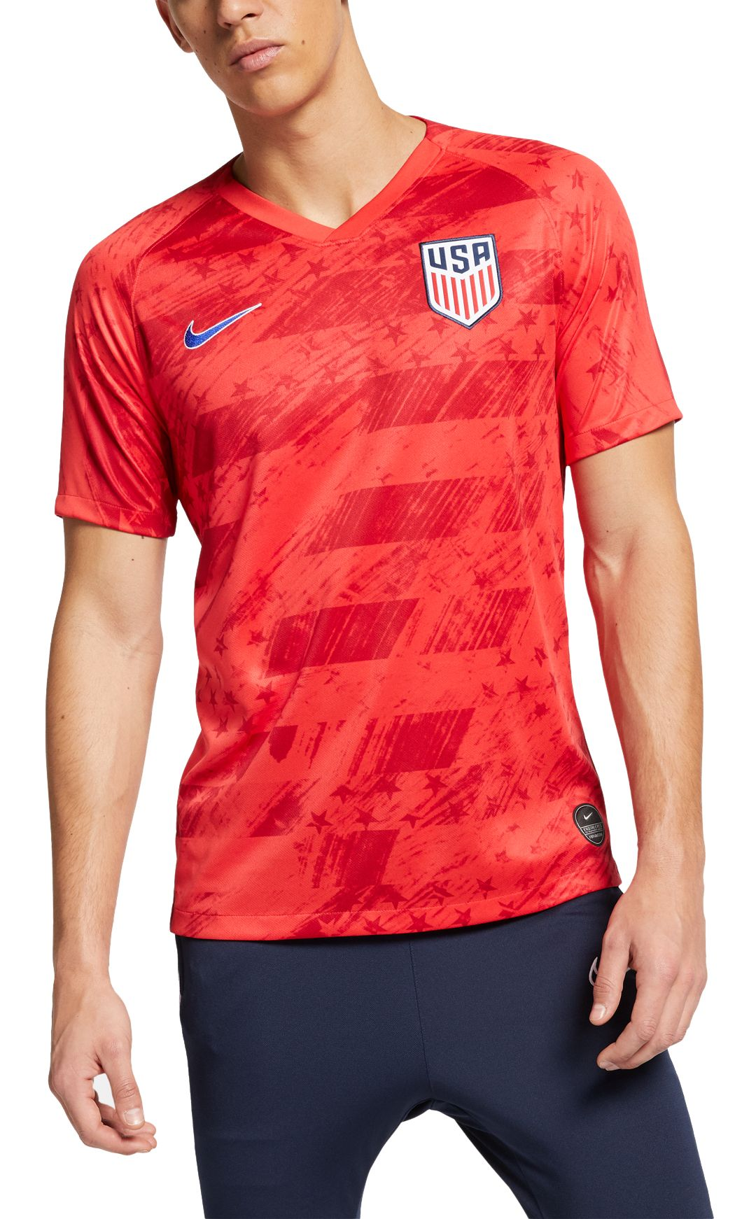 best service 8b7f1 f3688 Nike Men's 2019 USA Soccer '19 Breathe Stadium Away Replica ...