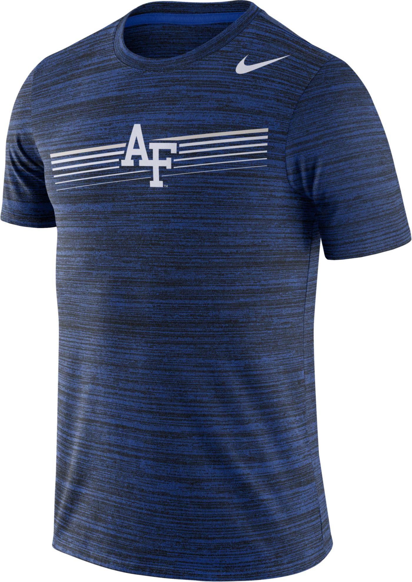 Nike Men's Air Force Falcons Blue Velocity Legend Graphic T-Shirt