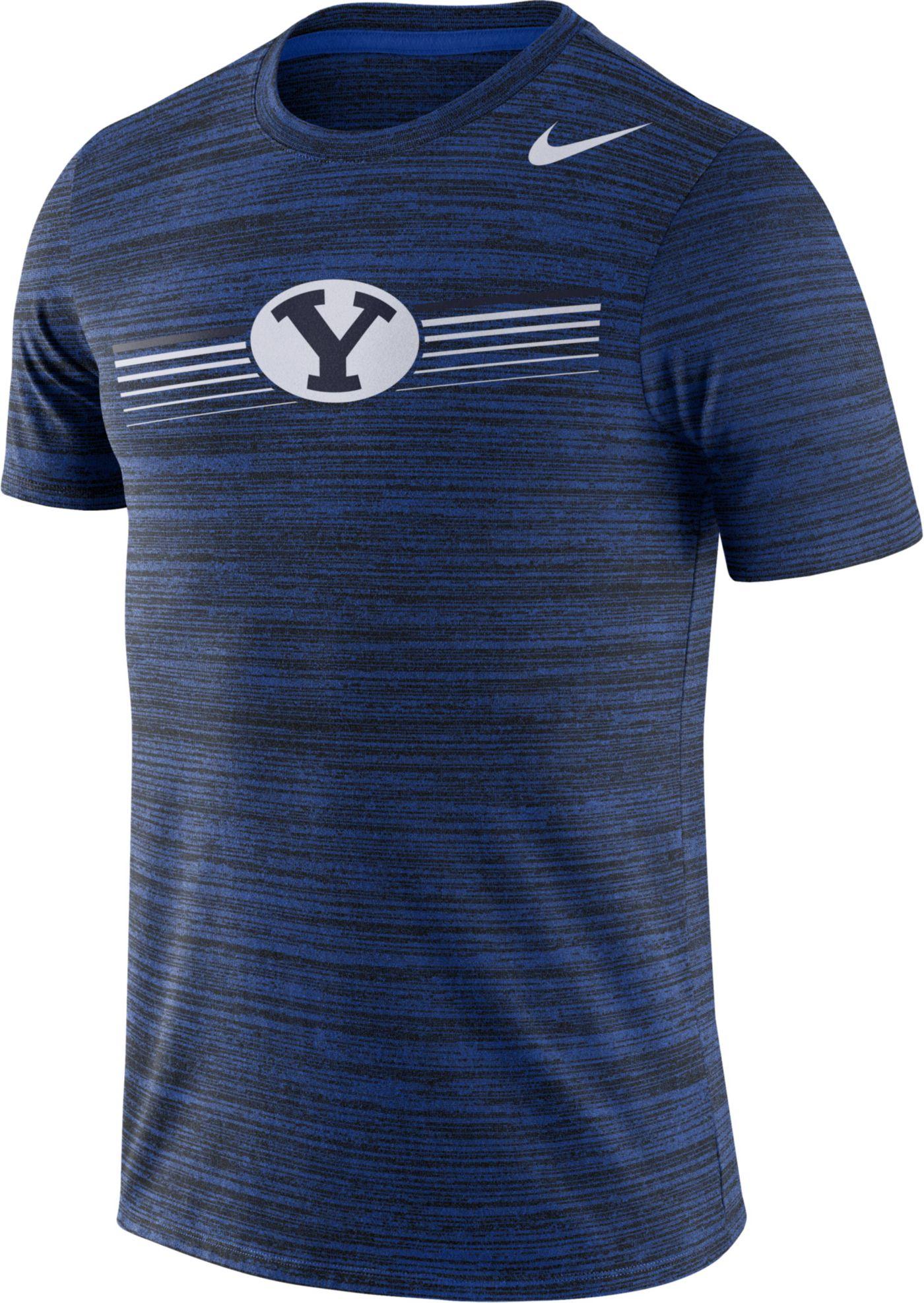 Nike Men's BYU Cougars Blue Velocity Legend Graphic T-Shirt