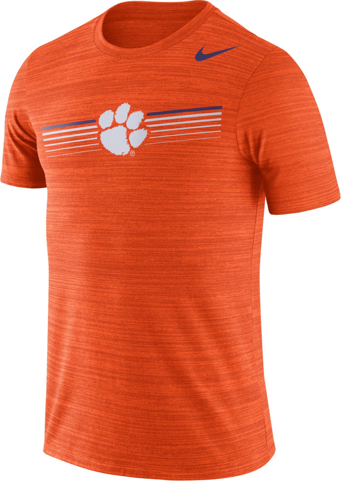 Nike Men's Clemson Tigers Orange Velocity Legend Graphic T-Shirt
