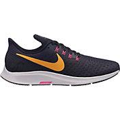 Nike Men's Air Zoom Pegasus 35 Running Shoes in Black/Orange