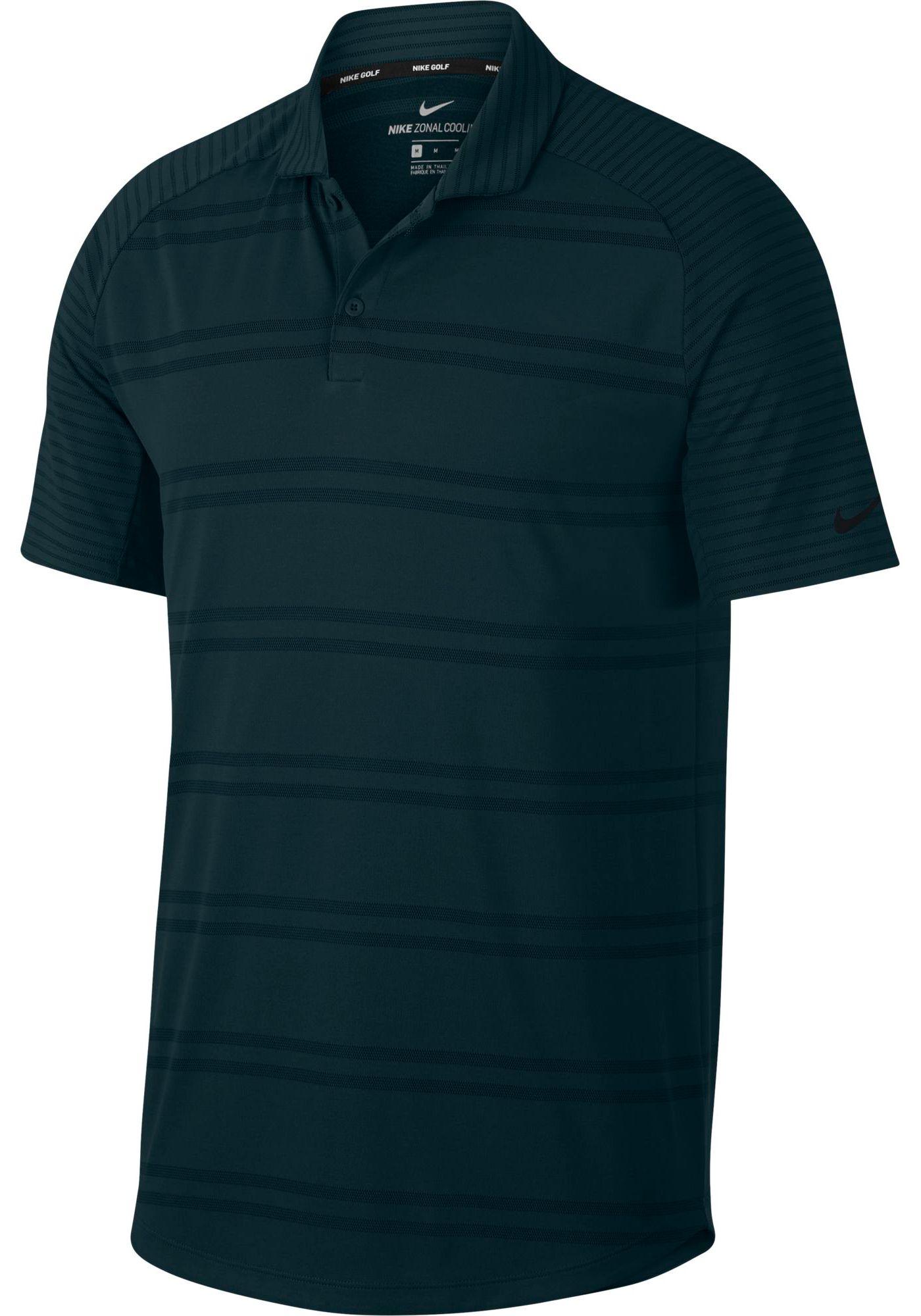 Nike Men's Zonal Cooling Stripe Raglan Golf Polo