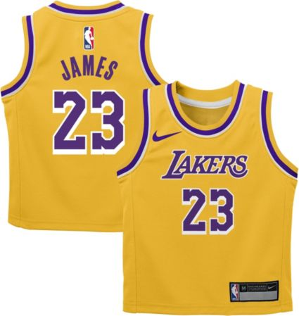 4e8752de142 Nike Toddler Los Angeles Lakers LeBron James  23 Gold Dri-FIT Swingman  Jersey. noImageFound