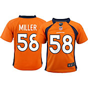 Nike Toddler Denver Broncos Von Miller #58 Orange Game Jersey