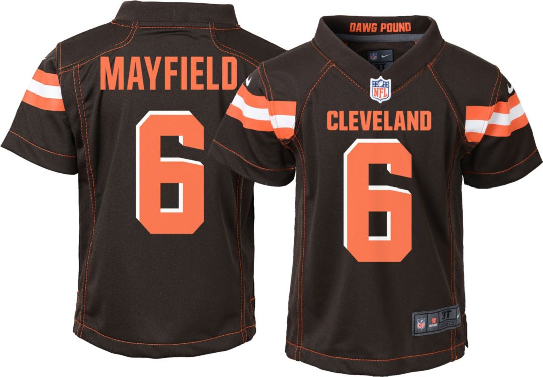 innovative design 3c987 8ea3c Nike Toddler Home Game Jersey Cleveland Browns Baker Mayfield #6