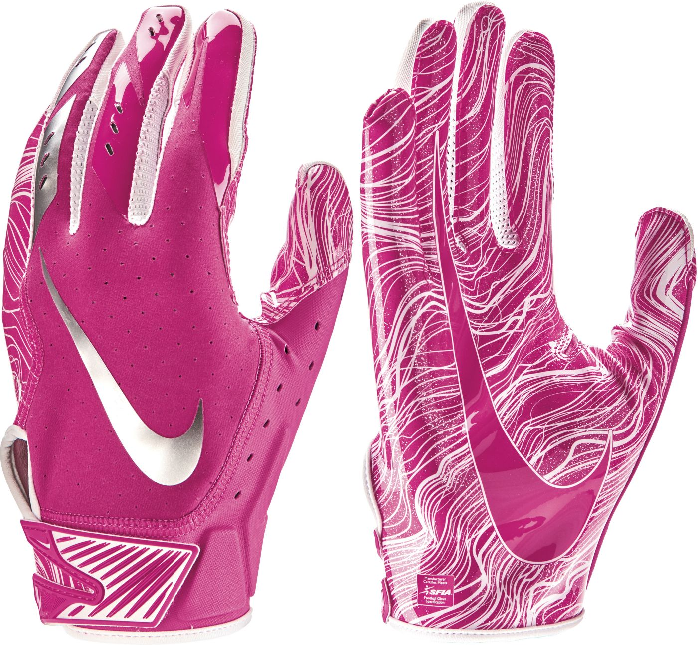 Nike Adult Vapor Jet 5.0 Breast Cancer Awareness Receiver Gloves