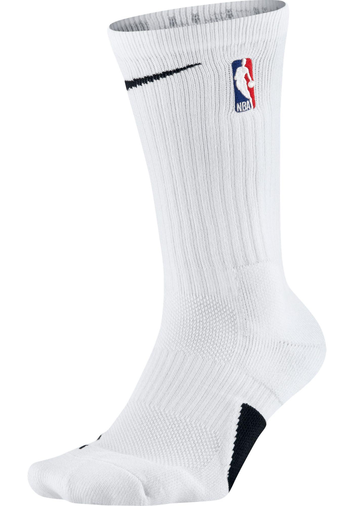 Nike NBA League White Elite Crew Socks