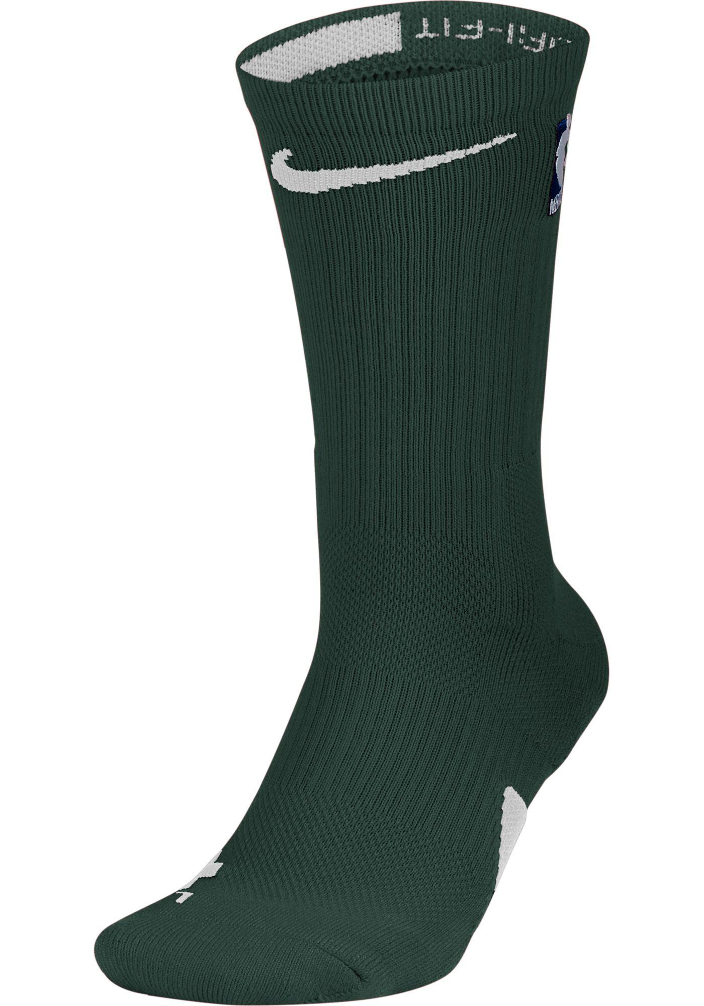 Nike NBA League Dark Green Elite Crew Socks