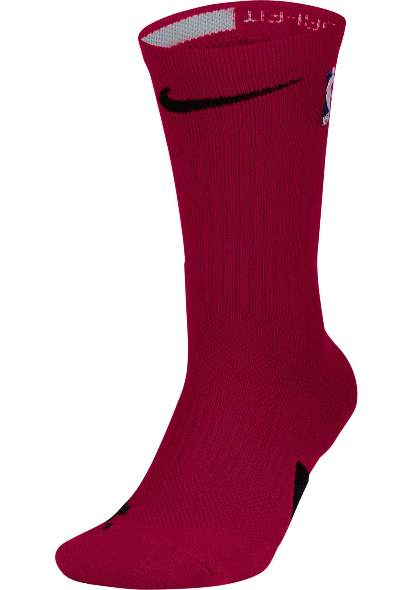 Nike NBA League Burgundy Elite Crew Socks