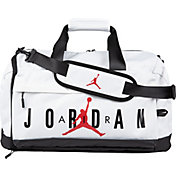 e9dedd469afc8 Product Image · Jordan Velocity Duffle Bag. White · Black
