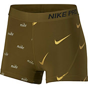 Nike Women's 3'' Metallic Pro Shorts