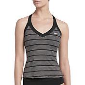 Nike Women's 6:1 Heather Striped V-Neck Tankini Swim Top