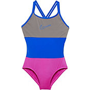 Nike Girls' Surge Spider Back Swimsuit