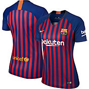 Nike Women's Barcelona FC 2018 Breathe Stadium Home Replica Jersey