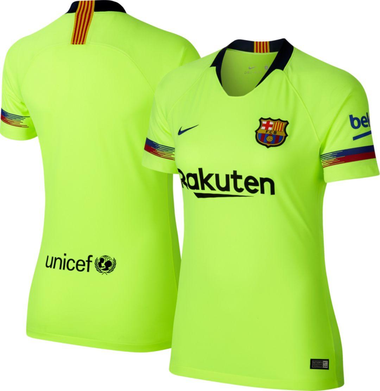 low priced 97840 d8800 Nike Women's Barcelona FC 2018 Breathe Stadium Away Replica Jersey