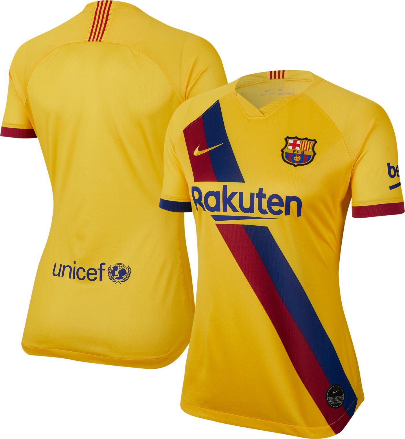 Nike Women's FC Barcelona '19 Breathe Stadium Away Replica Jersey