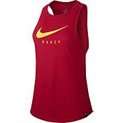 Nike Women's FC Barcelona Training Grind Maroon T-Shirt