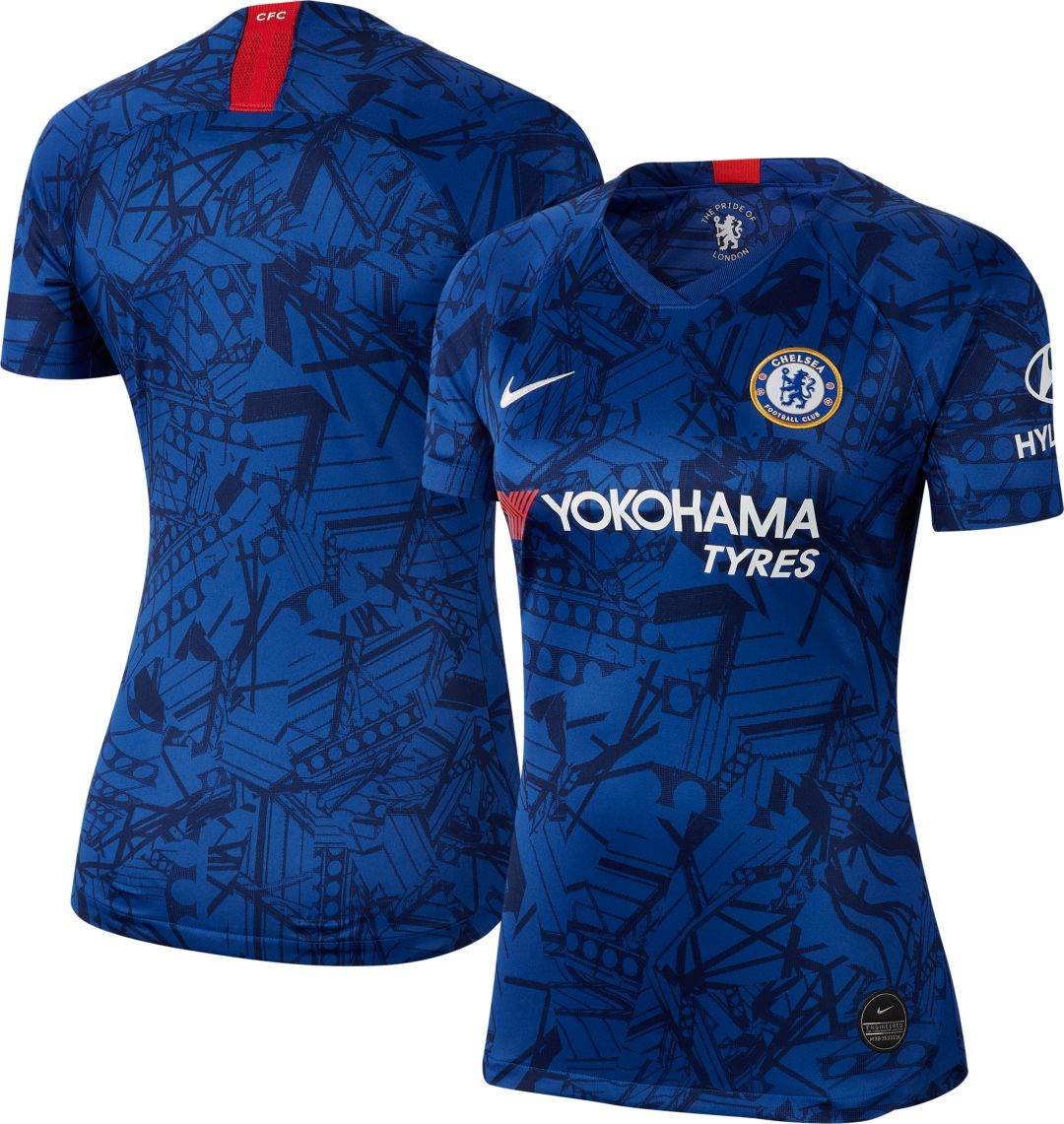 the best attitude 42e01 ddda3 Nike Women's Chelsea FC '19 Breathe Stadium Home Replica Jersey