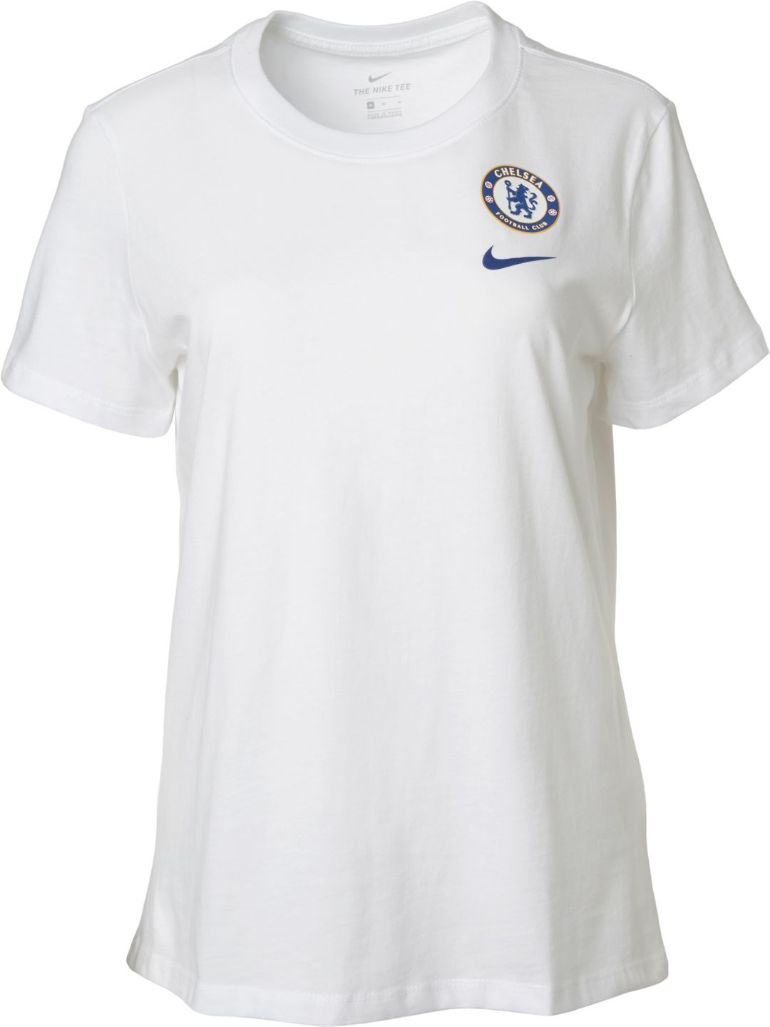 more photos 781d5 92a29 Nike Women's Chelsea FC '19 Crest White T-Shirt