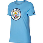 Nike Women's Manchester City Crest Blue T-Shirt