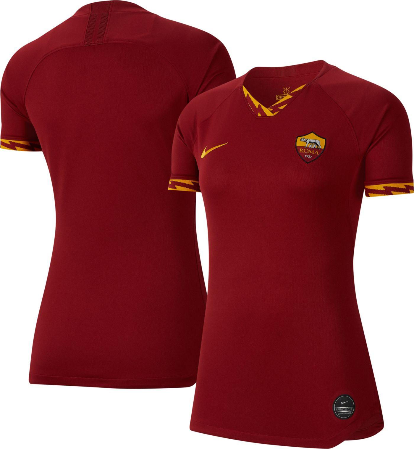 Nike Women's AS Roma '19 Breathe Stadium Home Replica Jersey