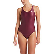 Nike Women's Flash Bonded Fastback One Piece Swimsuit