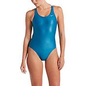 Nike Women's Flash Bonded Fastback One Piece Swimsuit