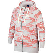 Nike Women's Plus Size Gym Vintage Camo Full-Zip Hoodie