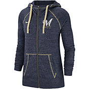 Nike Women's Milwaukee Brewers Vintage Full-Zip Hoodie