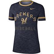Nike Women's Milwaukee Brewers Dri-FIT Slub Crew T-Shirt