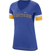 Nike Women's Milwaukee Brewers Dri-FIT V-Neck T-Shirt