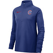 Nike Women's Chicago Cubs Dri-FIT Half-Zip Pullover