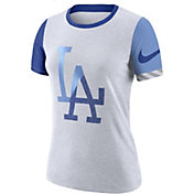 Nike Women's Los Angeles Dodgers Dri-FIT Slub Logo T-Shirt