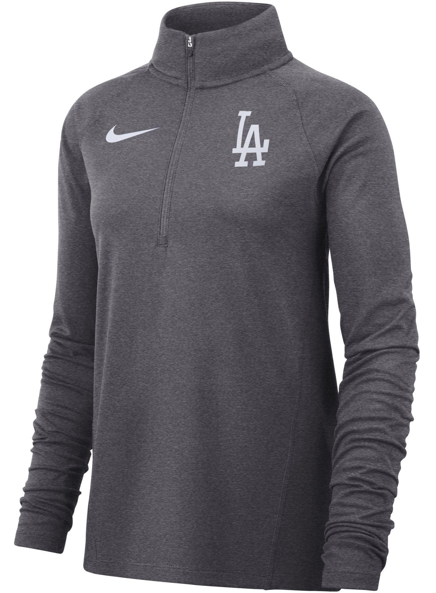 Nike Women's Los Angeles Dodgers Dri-FIT Half-Zip Pullover