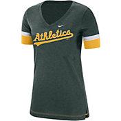 Nike Women's Oakland Athletics Dri-FIT V-Neck T-Shirt