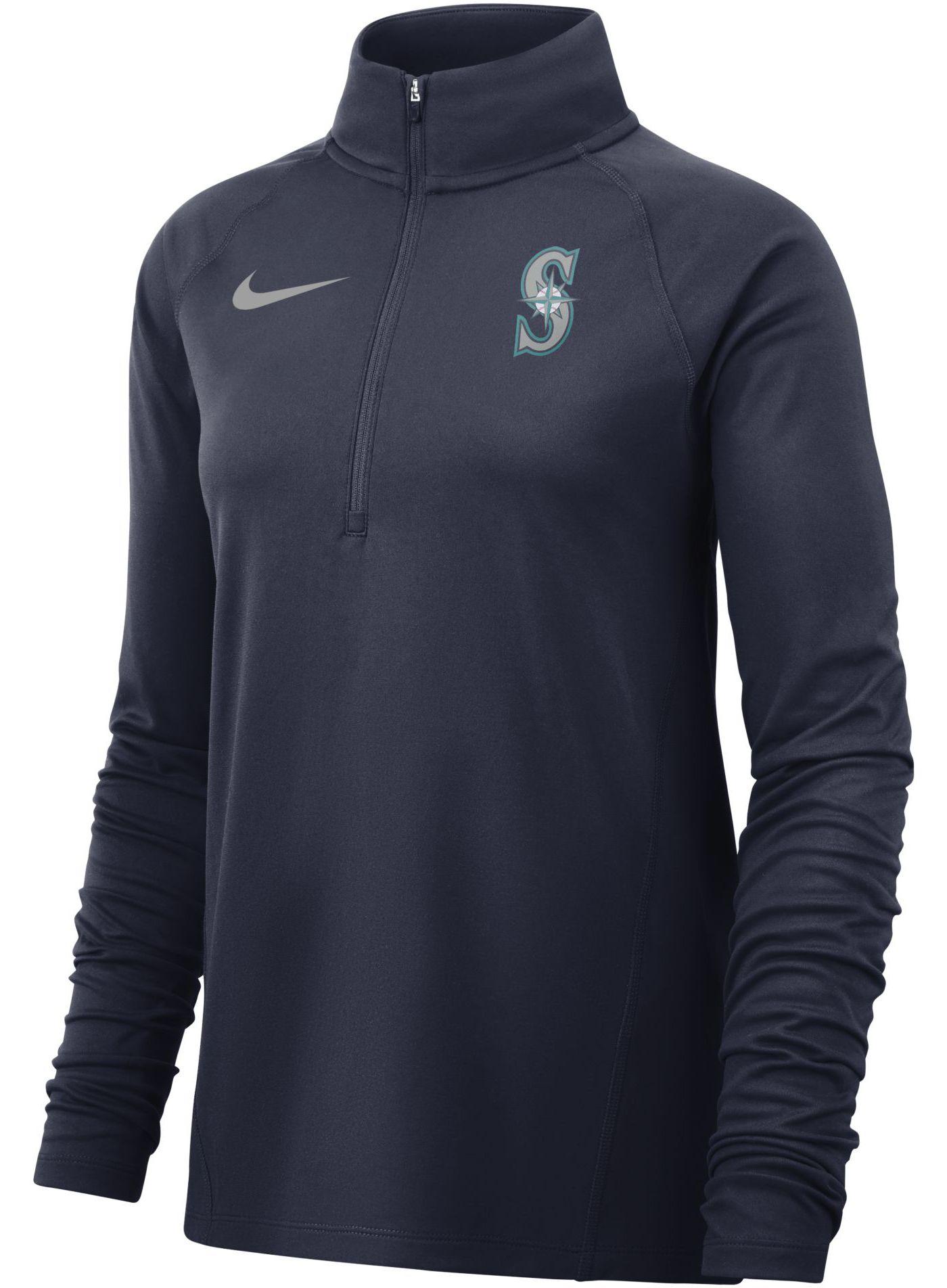 Nike Women's Seattle Mariners Dri-FIT Half-Zip Pullover
