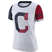 Nike Women's Cleveland Indians Dri-FIT Slub Logo T-Shirt