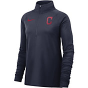 Nike Women's Cleveland Indians Dri-FIT Half-Zip Pullover