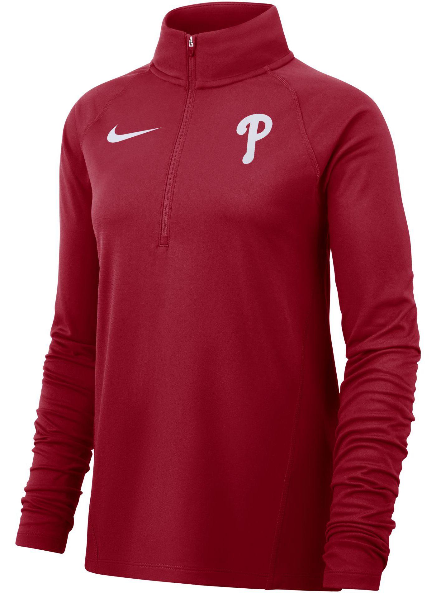 Nike Women's Philadelphia Phillies Dri-FIT Half-Zip Pullover