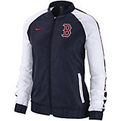 Nike Women's Boston Red Sox Dri-FIT Full-Zip Varsity Jacket