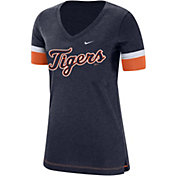 Nike Women's Detroit Tigers Dri-FIT V-Neck T-Shirt