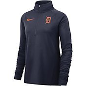 Nike Women's Detroit Tigers Dri-FIT Half-Zip Pullover