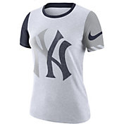 Nike Women's New York Yankees Dri-FIT Slub Logo T-Shirt