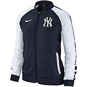Nike Women's New York Yankees Dri-FIT Full-Zip Varsity Jacket