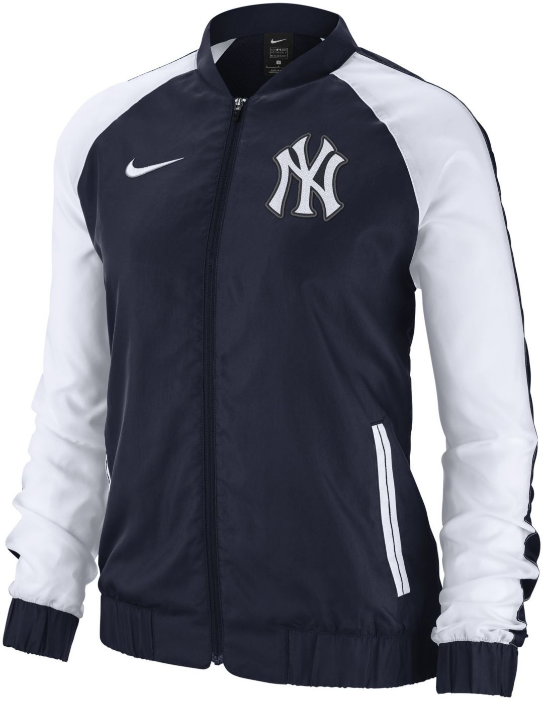 Nike Women's New York Yankees Dri FIT Full Zip Varsity Jacket
