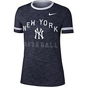 Nike Women's New York Yankees Dri-FIT Slub Crew T-Shirt