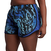Nike Women's Plus Size Dry 3'' Marble Printed Tempo Shorts