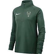 Nike Women's Milwaukee Bucks Dri-FIT Element Half-Zip Pullover
