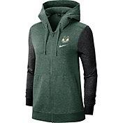 Nike Women's Milwaukee Bucks Raglan Full-Zip Hoodie
