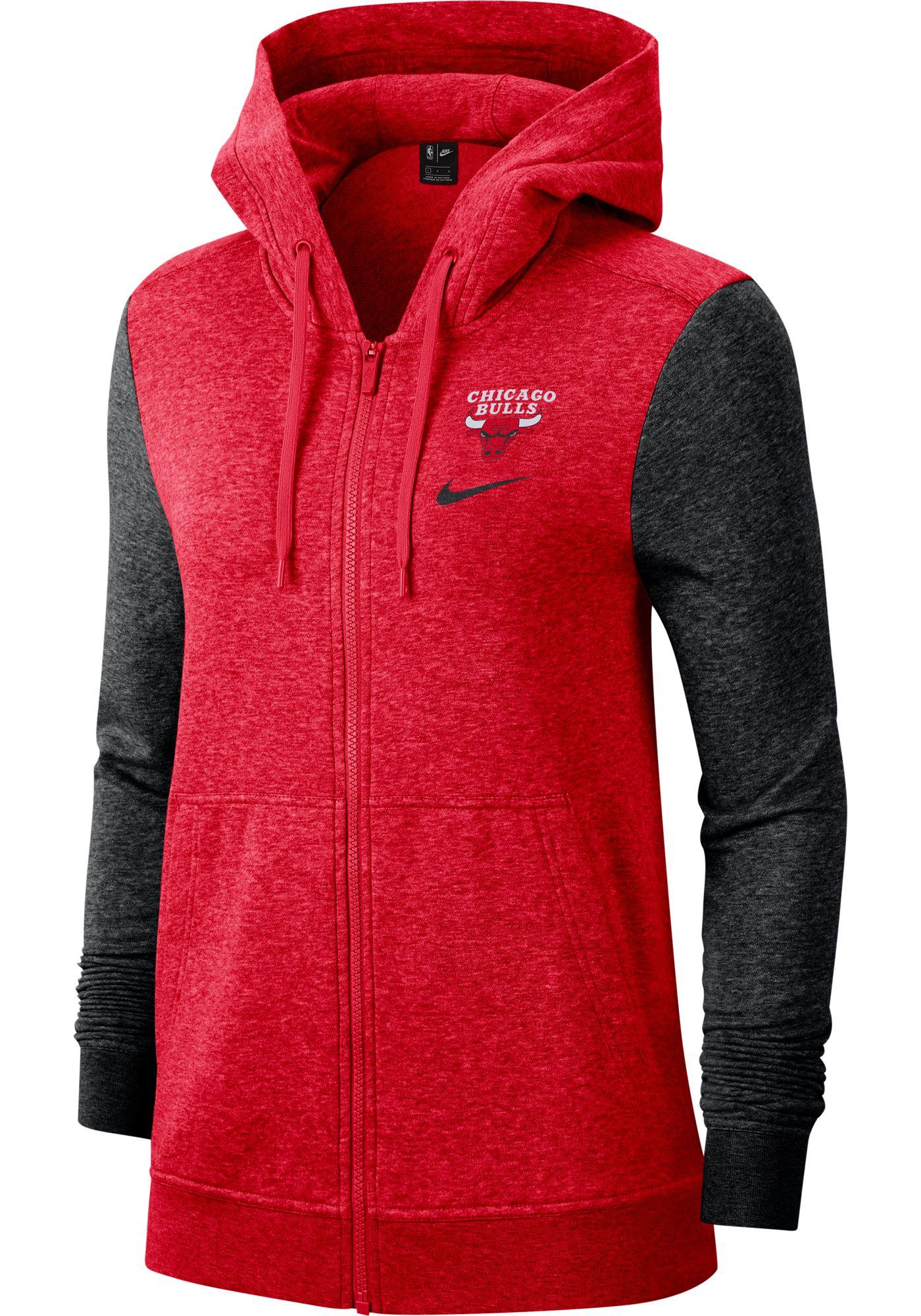 Nike Women's Chicago Bulls Raglan Full-Zip Hoodie